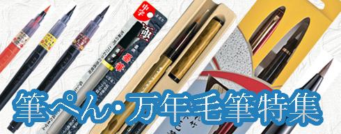 書画用品に精通した筆墨メーカーが造る筆ぺん・万年毛筆。普及タイプからご贈答用まで、用途に合わせてお選び頂ける品揃えです。